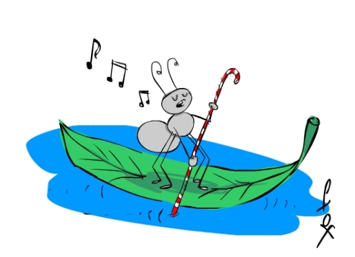 singing ant on water